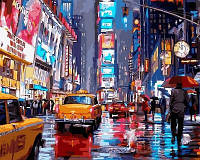 Картина по номерам Таймс-сквер Нью-Йорк. Худ. Ричард Макнейл 40x50 см. Babylon