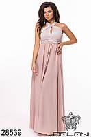 Нарядное платье в пол Декорировано бусинами Размер 42 44 46 Разные цвета, фото 1