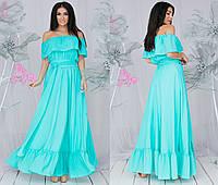 Женское летнее платье в пол из креп-шифона