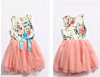 Детское повседневное платье с фатиновой юбочкой.