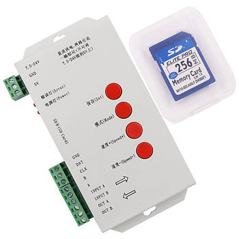 LED RF RGB  контроллер T1000S DC5-24V  WS2811, WS2812 с поддержкой SD карты
