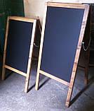 Штендер, мимоход реклама Деревянный  Меловой 100см на 60см, фото 2