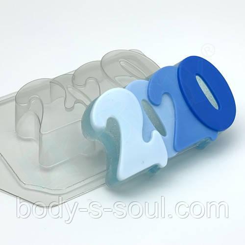 Пластиковая форма 2020 гладкая