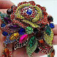 Брошь цветок в винтажном стиле