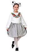 Модное детское платье с вышивкой