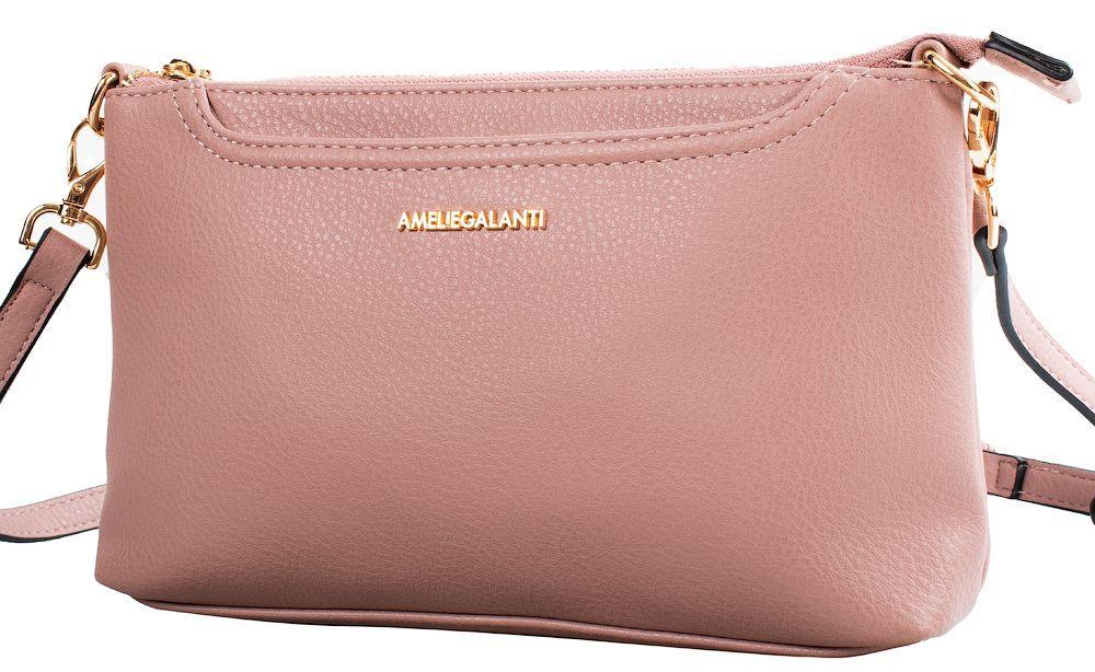 Женская сумка-клатч AMELIE GALANTI A991457-pink из кожзама, розовый