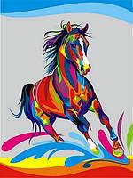 Картина по номерам Радужный конь 30x40 см. Babylon