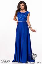 Вечернее платье в пол Вышивка на сетке и шелк Декорировано 3Д цветами и стразами Размер 42 44 46 Разные цвета