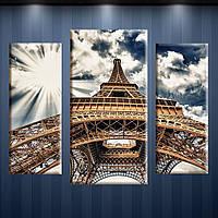 Алмазная мозаика У подножья башни (20x50)+(30x60)+(20x50)см DM-151 Полная зашивка. Набор алмазной вышивки
