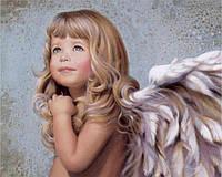 Алмазная мозаика Милый ангел 50x40см DM-152 Полная зашивка. Набор алмазной вышивки