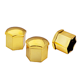 Защитные колпачки на колесные гайки 17 мм золото, фото 6