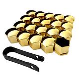 Защитные колпачки на колесные гайки 17 мм золото, фото 3