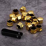Защитные колпачки на колесные гайки 17 мм золото, фото 10