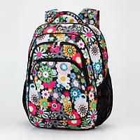 Школьный рюкзак Dolly 531 для девочки в ромашках ортопедический 30х39х21 см