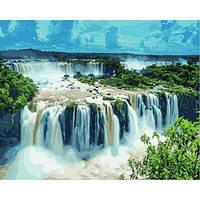 Картина по номерам Водопад Игуасу Бразилия 50x65 см. Babylon