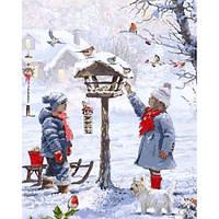 Картина по номерам Кормушка для птиц, 40x50 см., Babylon