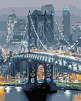 Картина за номерами в коробці Бруклінський міст AS0361 40*50см. Artstory Города. Городской пейзаж.