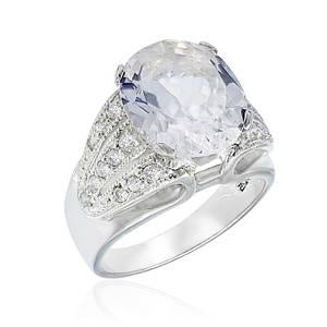 Кольцо серебряное с натуральным морганитом (гошенит) размер 17