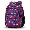 Рюкзак Школьный ортопедический фиолетовый стильный Dolly 532 для девочки в листьях 30х39х21 см