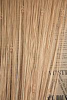 Нитяные шторы с тройным стеклярусом  бежевые  (14)