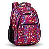 """Школьный рюкзак Dolly 533 для девочки красный рисунок """"Стрекозы"""" ортопедический 30х39х21 см"""