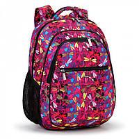 """Школьный рюкзак Dolly 533 для девочки красный рисунок """"Стрекозы"""" ортопедический 30х39х21 см, фото 1"""