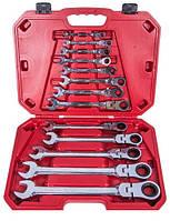 Набор ключей комбинированных с трещоткой и шарниром Alloid 13 ед. 8-32 мм НК-8701-13