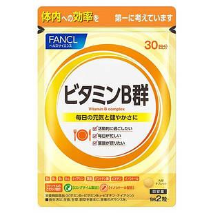 Японские FANCL Витамины группы B (растянутое во времени всасывание), 60 таблеток на 30 дней