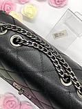 Черная новая сумка на серо-черной цепи, фото 3
