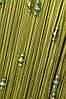Нитяные шторы с тройным стеклярусом  оливковая (19)