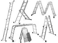 Драбина трансформер 4x3 Higher 4-х секційна універсальна розкладна 12 ступеньок 3.5м Польща Лестница Стремянка