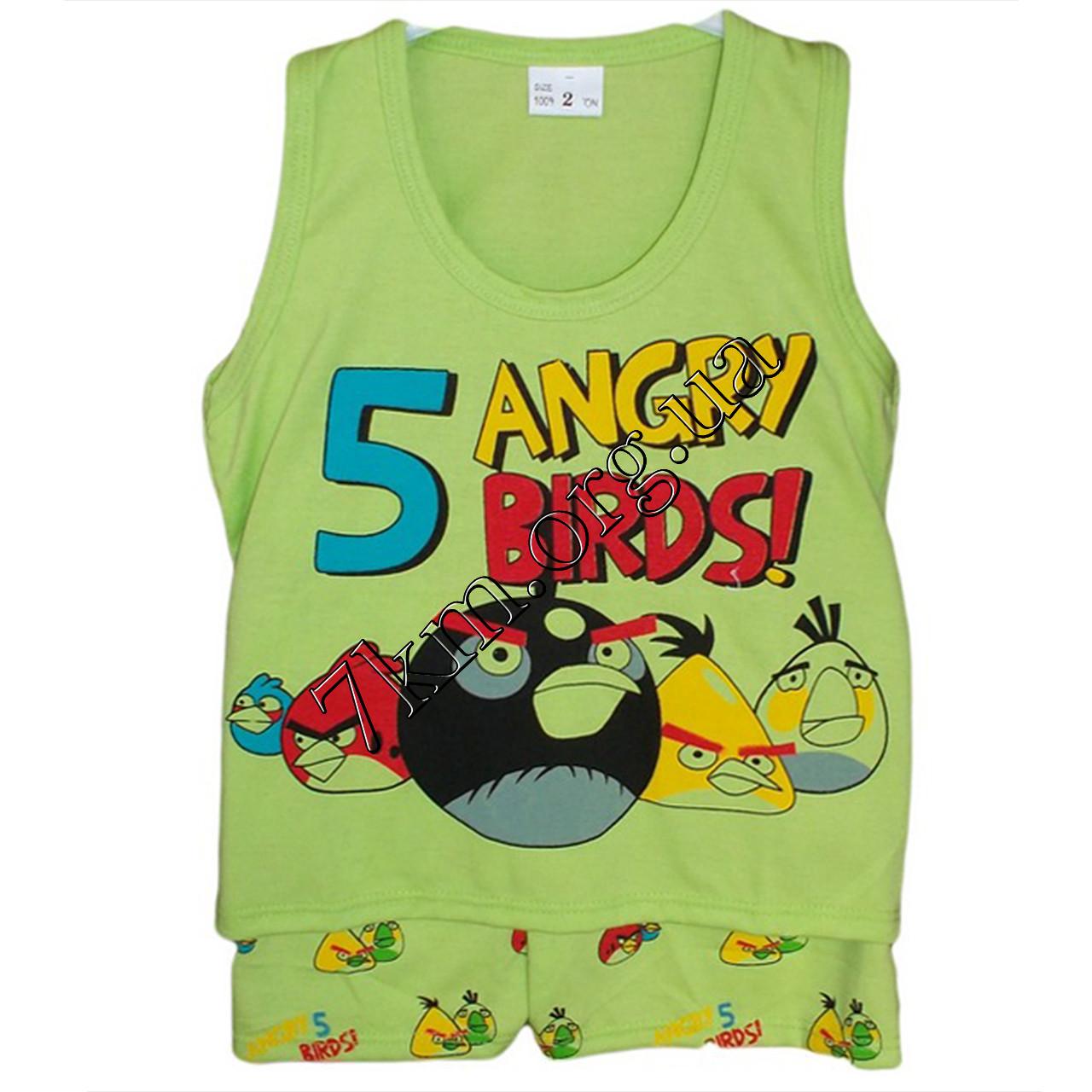 """Набор детский трикотаж для мальчиков """"Angry Birds"""" 6-24 месяца Оптом 300423"""