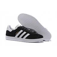 Женские кроссовки Adidas Gazelle Black/White Реплика, фото 1