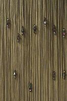 Нитяные шторы с тройным стеклярусом мышиный №202