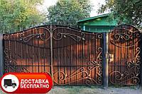 Ворота з профнастилом