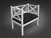 Кресло-диванчик Tenero Грин-Трик-Лофт металлическое белое
