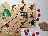 Настільна гра Звуки музичних інструментів, для розвитку слуха, 2+, фото 1
