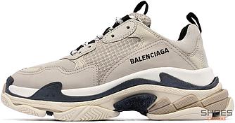 Женские кроссовки Balenciaga Triple S 'Vanille' (Premium-class) бежевые