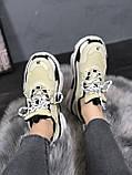 Женские кроссовки Balenciaga Triple S 'Vanille' (Premium-class) бежевые, фото 2