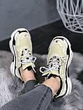 Женские кроссовки Balenciaga Triple S 'Vanille' (Premium-class) бежевые, фото 5