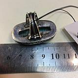 Амазонит овальное кольцо с амазонитом в серебре. Природный амазонит 17,5 размер Индия, фото 8