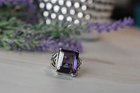 Серебряное кольцо с камнем Александрит