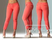 Женские модные брюки штаны большого размера коралл