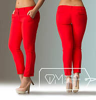 Женские модные брюки штаны большого размера красные