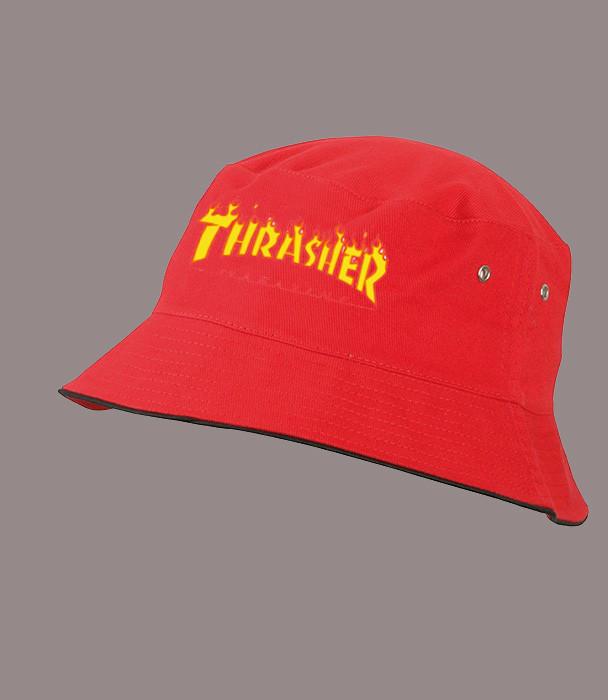 Панама THRASHER, красная  | Трешер мужская как оригинал