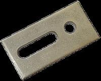 Монтажная пластина для солнечных панелей оцинкованная 82х40х5мм