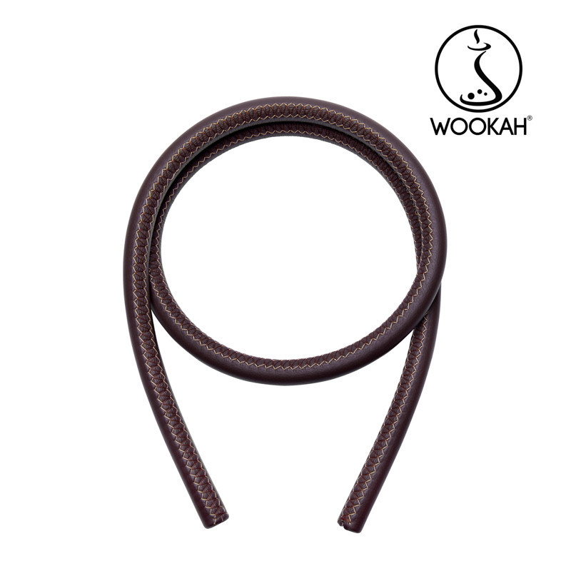 Шланг для кальяна Wookah, натуральная кожа, коричневый