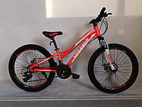Велосипед 2-х колес 24'' A192007  диск.тормоза,без доп.колес