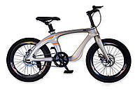 Велосипед 2-х колес 20'' M20410  ЗОЛОТО, рама из магниевого сплава, подножка,руч.тормоз,без доп