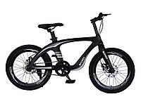 Велосипед 2-х колес 20'' M20412  ЧЕРНЫЙ, рама из магниевого сплава, подножка,руч.тормоз,без доп